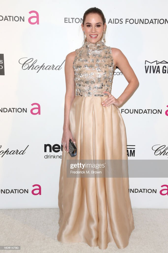 Actress Christa B. Allen arrives at the 21st Annual Elton John AIDS Foundation's Oscar Viewing Party on February 24, 2013 in Los Angeles, California.