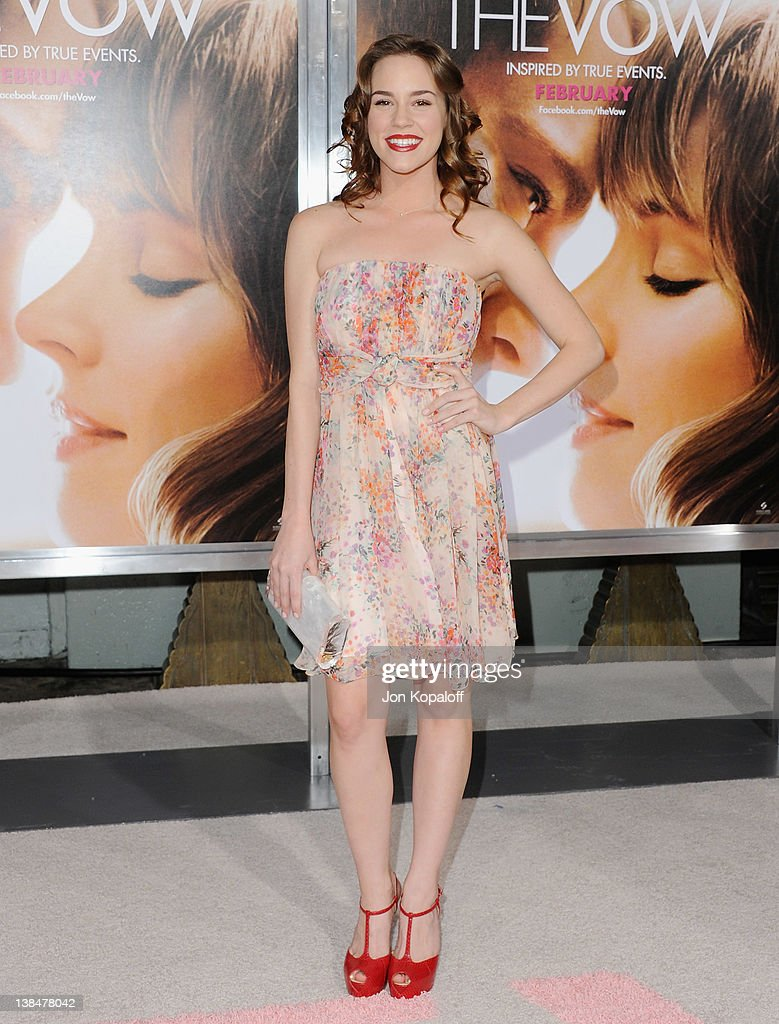 Actress Christa B. Allen arrives at the Los Angeles Premiere 'The Vow' at Grauman's Chinese Theatre on February 6, 2012 in Hollywood, California.