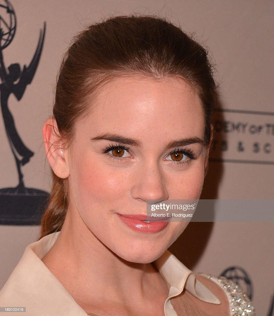 Actress Christa B. Allen arrives to the Academy of Television Arts and Sciences' An Evening with 'Revenge' at Leonard H. Goldenson Theatre on March 4, 2013 in North Hollywood, California.