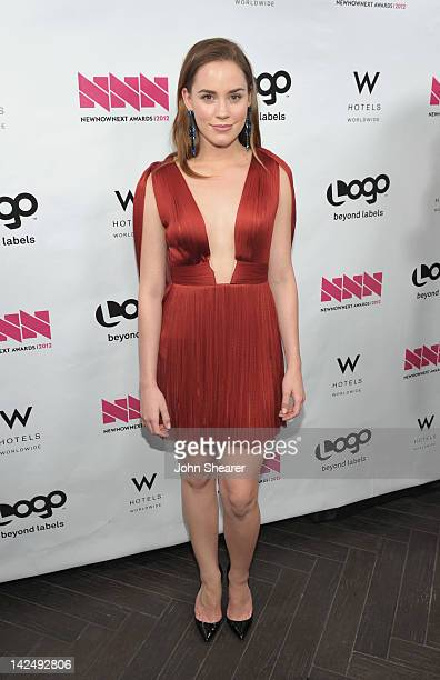 Actress Christa B Allen at the W Hotels Backstage Winner's Circle at Logo's NewNowNext Awards at Avalon on April 5 2012 in Hollywood California