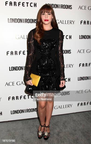 Actress Christa B Allen attends British Fashion Counsel Celebrates London Show Rooms LA Spring/Summer 2014 at Ace Gallery on November 5 2013 in...