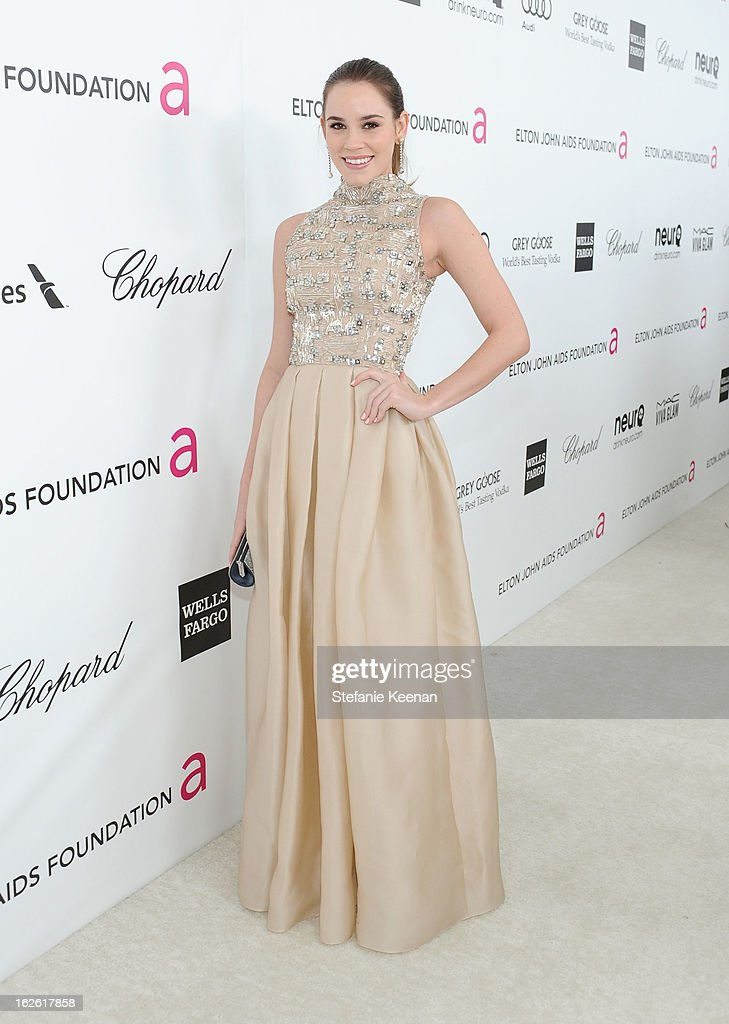 Actress Christa B. Allen attends Chopard at 21st Annual Elton John AIDS Foundation Academy Awards Viewing Party at West Hollywood Park on February 24, 2013 in West Hollywood, California.