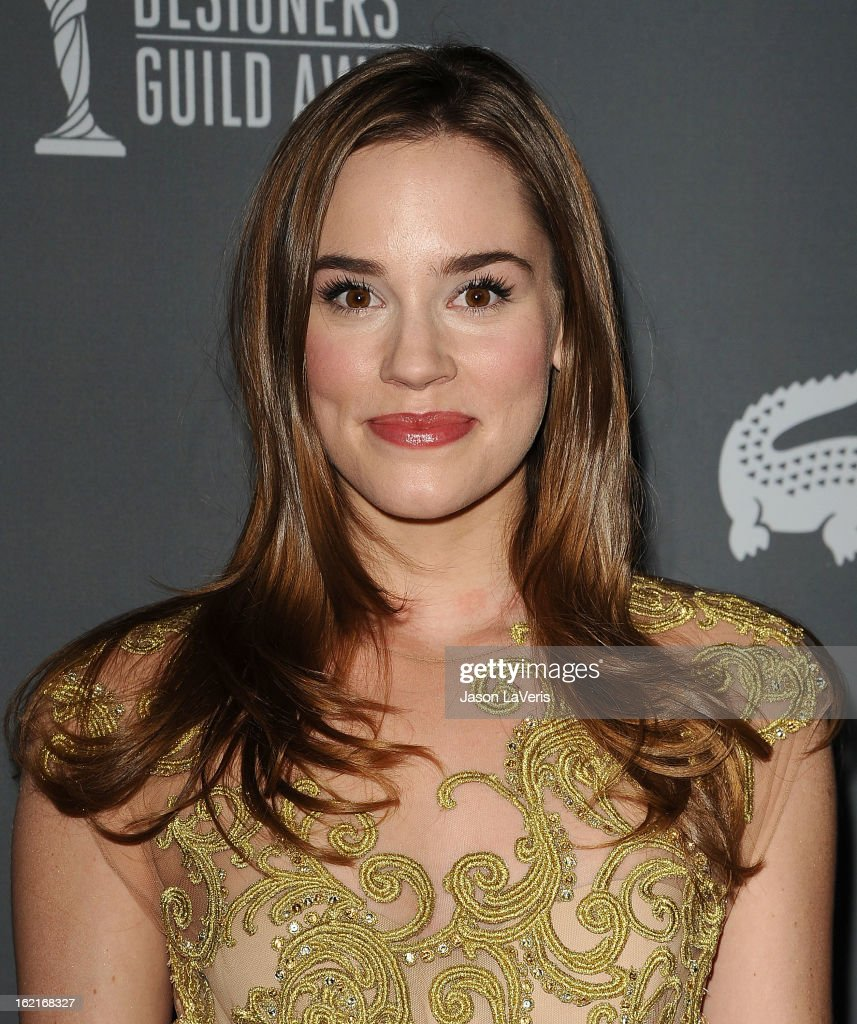 Actress Christa B. Allen attends the 15th annual Costume Designers Guild Awards at The Beverly Hilton Hotel on February 19, 2013 in Beverly Hills, California.