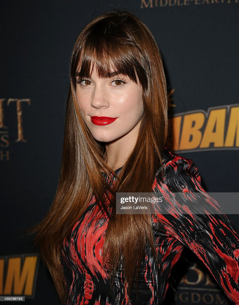 Actress <a gi-track='captionPersonalityLinkClicked' href=/galleries/search?phrase=Christa+B.+Allen+-+Actress+-+Born+1991&family=editorial&specificpeople=4409701 ng-click='$event.stopPropagation()'>Christa B. Allen</a> attends 'The Hobbit: The Desolation Of Smaug' expansion pack game launch at Eveleigh on December 11, 2013 in West Hollywood, California.