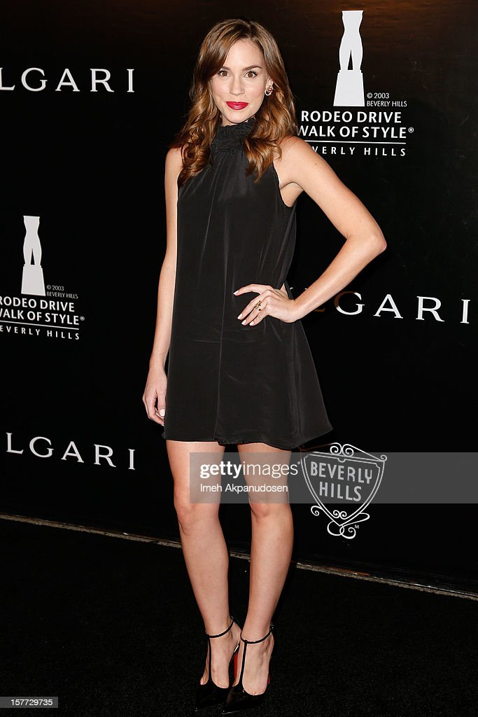 Actress Christa B. Allen attends the Rodeo Drive Walk Of Style honoring BVLGARI and Mr. Nicola Bulgari held at Bulgari on December 5, 2012 in Beverly Hills, California.