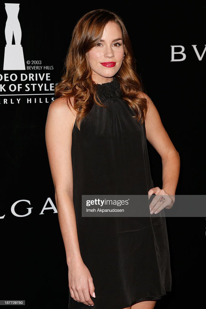 Actress Christa B. Allen attends the Rodeo Drive Walk Of Style honoring BVLGARI and Mr. Nicola Bulgari held at Bulgari on December 5, 2012 in Beverly Hills, California.