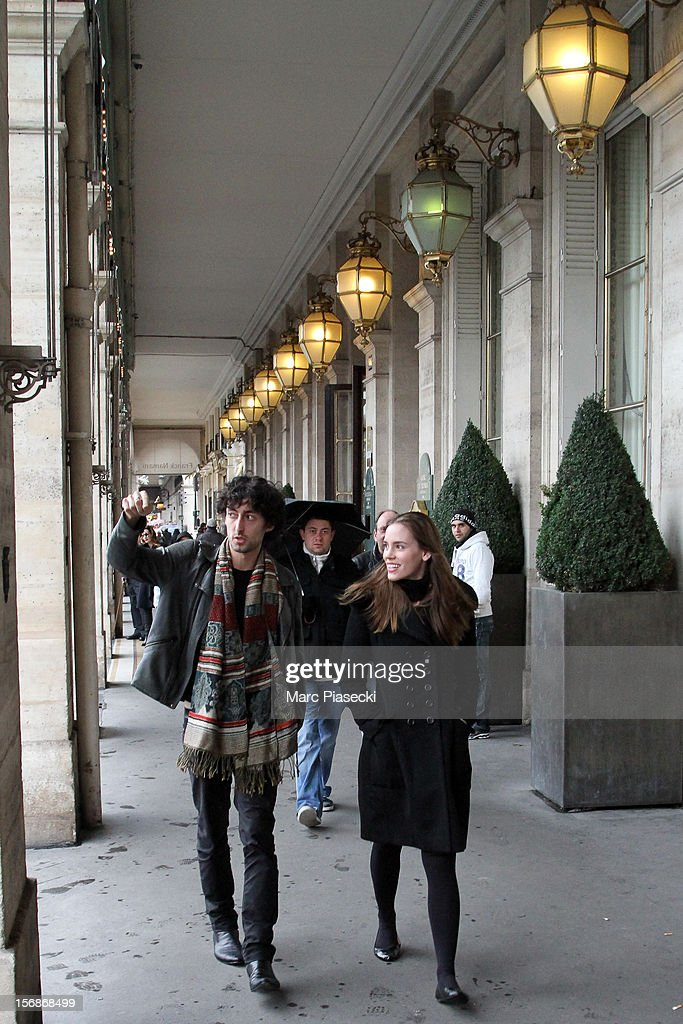 Actress Christa Brittany Allen is seen arriving at 'Angelina' tearoom on November 23, 2012 in Paris, France.