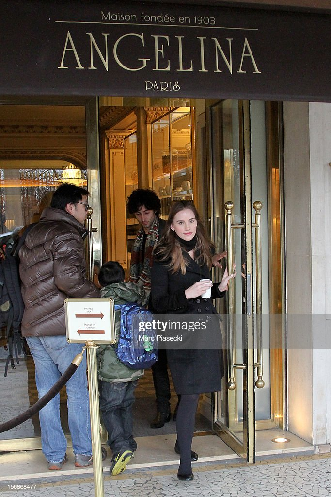 Actress Christa Brittany Allen is seen leaving the 'Angelina' tearoom on November 23, 2012 in Paris, France.