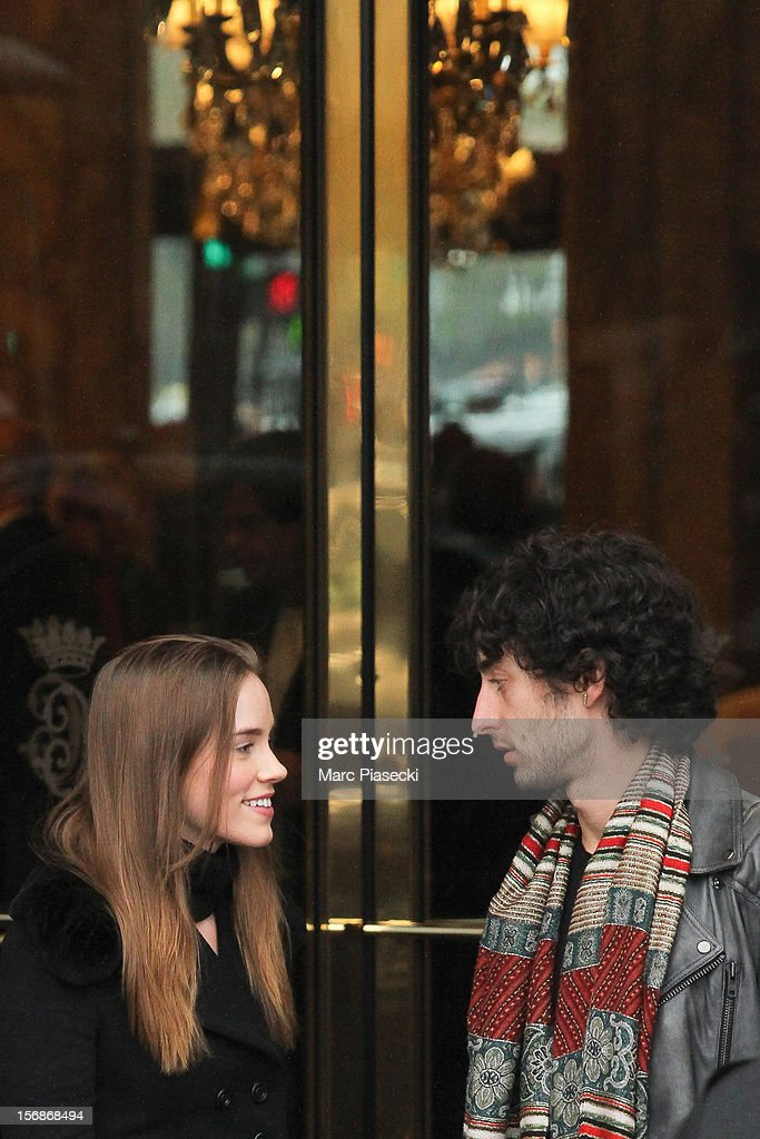 Actress Christa Brittany Allen is sighted leaving the 'Hotel de Crillon' on November 23, 2012 in Paris, France.