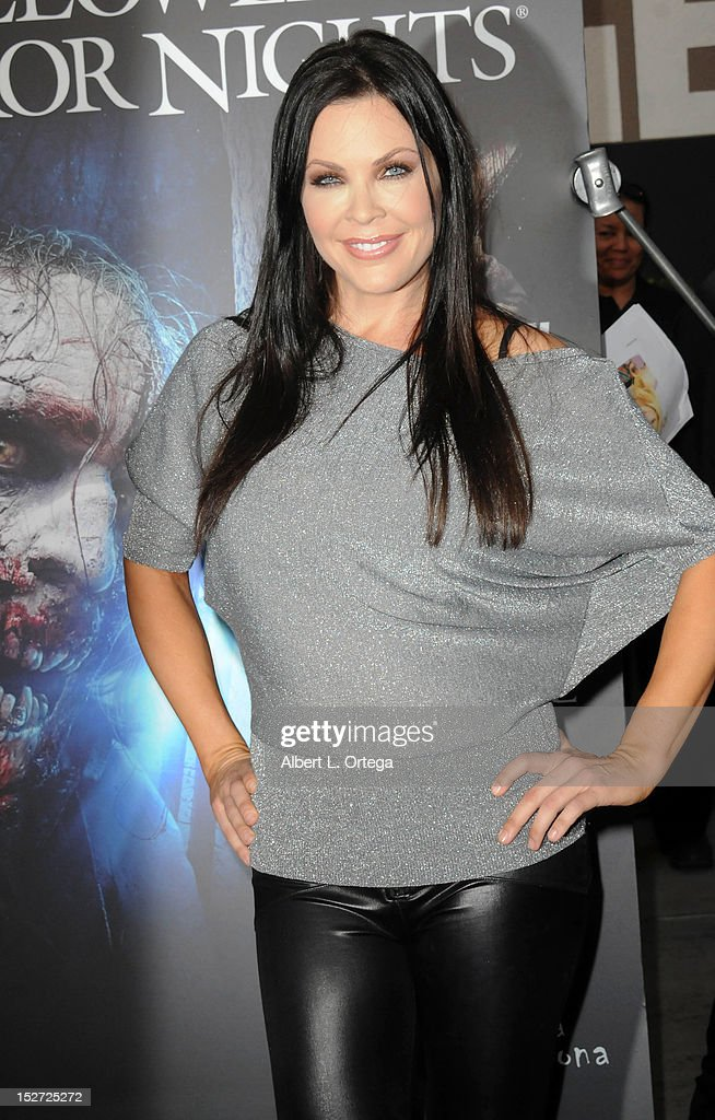 Actress Christa Campbell arrives for Universal Studios Hollywood 'Halloween Horror Night' and Eye Gore Awards Kick Off Party held at Universal Studios Hollywood on September 21, 2012 in Universal City, California.