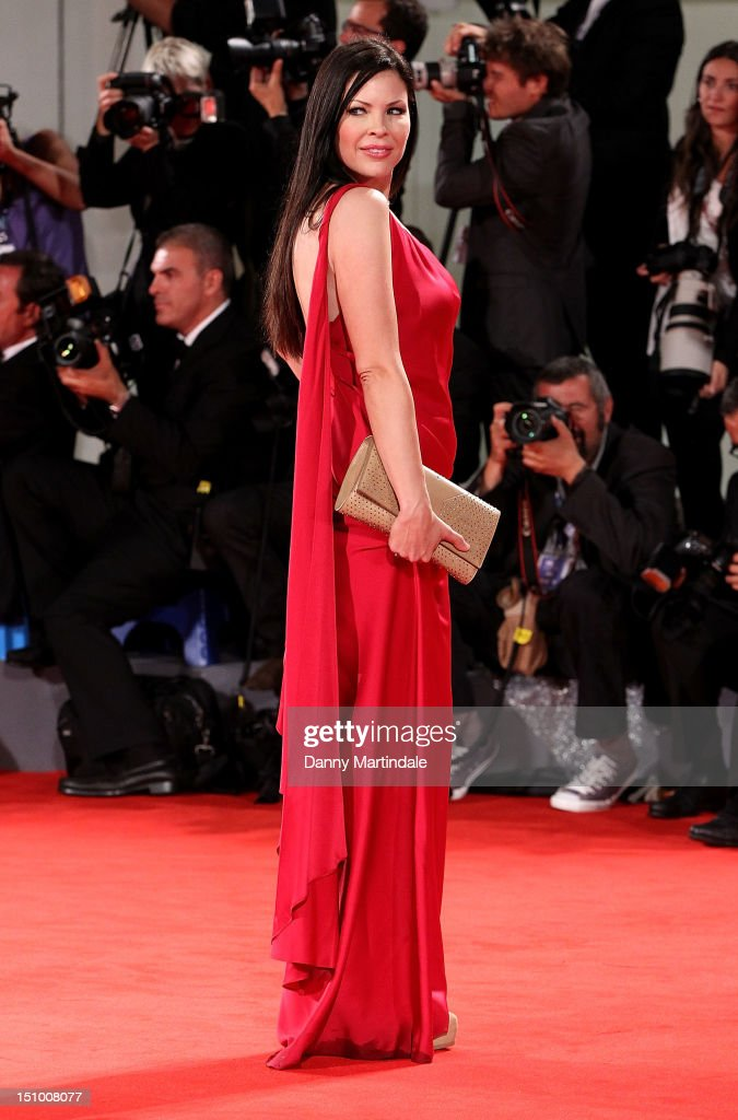 Actress Christa Campbell attends the 'The Iceman' premiere at the 69th Venice Film Festival on August 30 2012 in Venice Italy