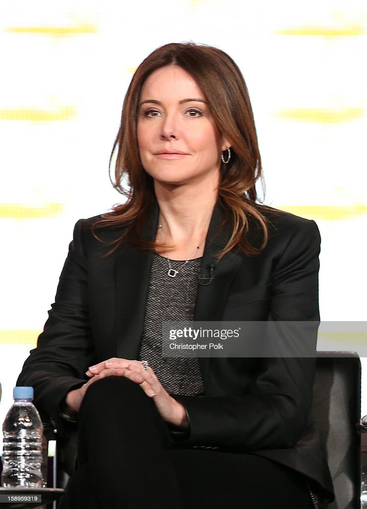 Actress Christa Miller of 'Cougar Town' speaks onstage during Turner Broadcasting's 2013 TCA Winter Tour at Langham Hotel on January 4, 2013 in Pasadena, California. 23128_001_CP_0592.JPG
