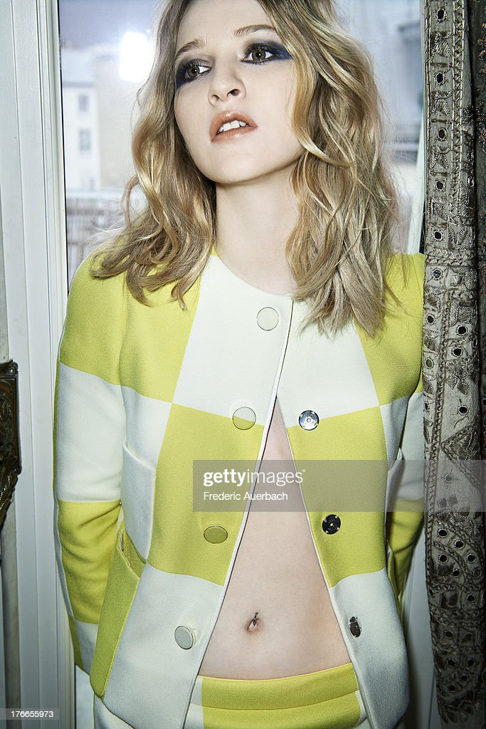 Actress <a gi-track='captionPersonalityLinkClicked' href=/galleries/search?phrase=Christa+Theret&family=editorial&specificpeople=4354937 ng-click='$event.stopPropagation()'>Christa Theret</a> is photographed for Flaunt Magazine on April 1, 2013 in Paris, France. PUBLISHED IMAGE.
