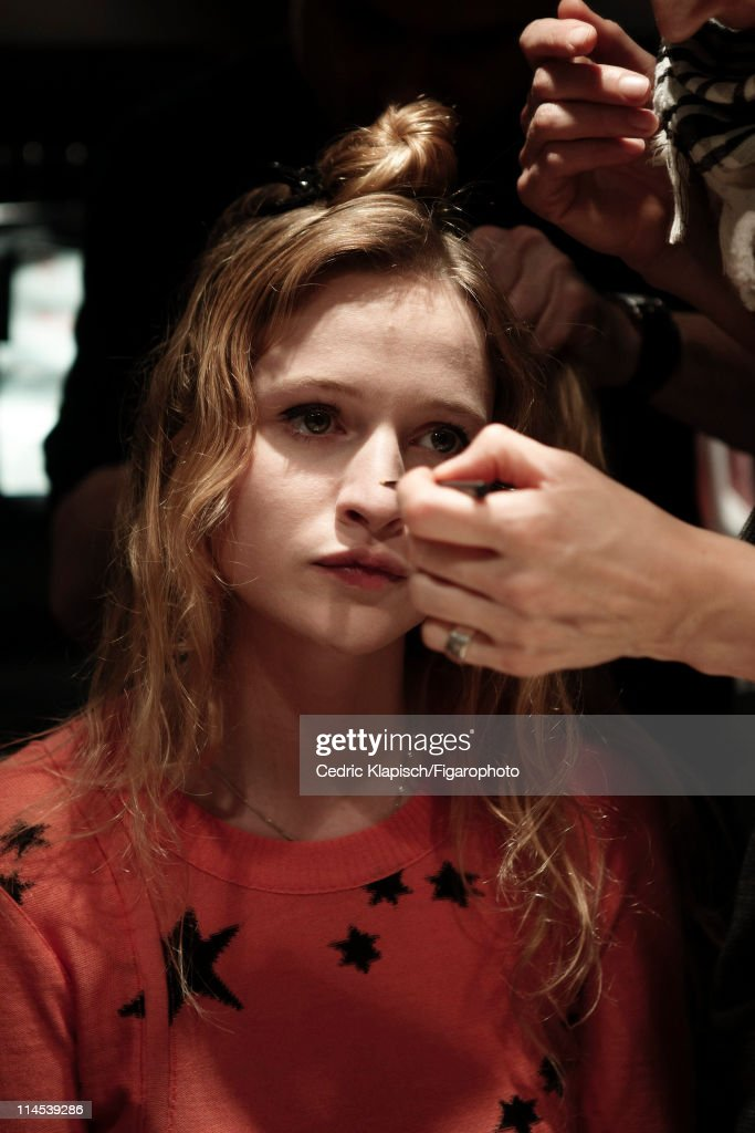 Actress <a gi-track='captionPersonalityLinkClicked' href=/galleries/search?phrase=Christa+Theret&family=editorial&specificpeople=4354937 ng-click='$event.stopPropagation()'>Christa Theret</a> is photographed for Madame Figaro on March 29, 2011 in Paris, France. Published image. Figaro