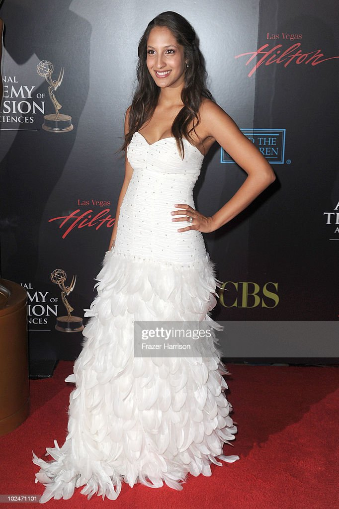 Actress <a gi-track='captionPersonalityLinkClicked' href=/galleries/search?phrase=Christel+Khalil&family=editorial&specificpeople=241522 ng-click='$event.stopPropagation()'>Christel Khalil</a> arrives at the 37th Annual Daytime Entertainment Emmy Awards held at the Las Vegas Hilton on June 27, 2010 in Las Vegas, Nevada.