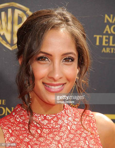 Actress Christel Khalil arrives at the 42nd Annual Daytime Emmy Awards at Warner Bros Studios on April 26 2015 in Burbank California
