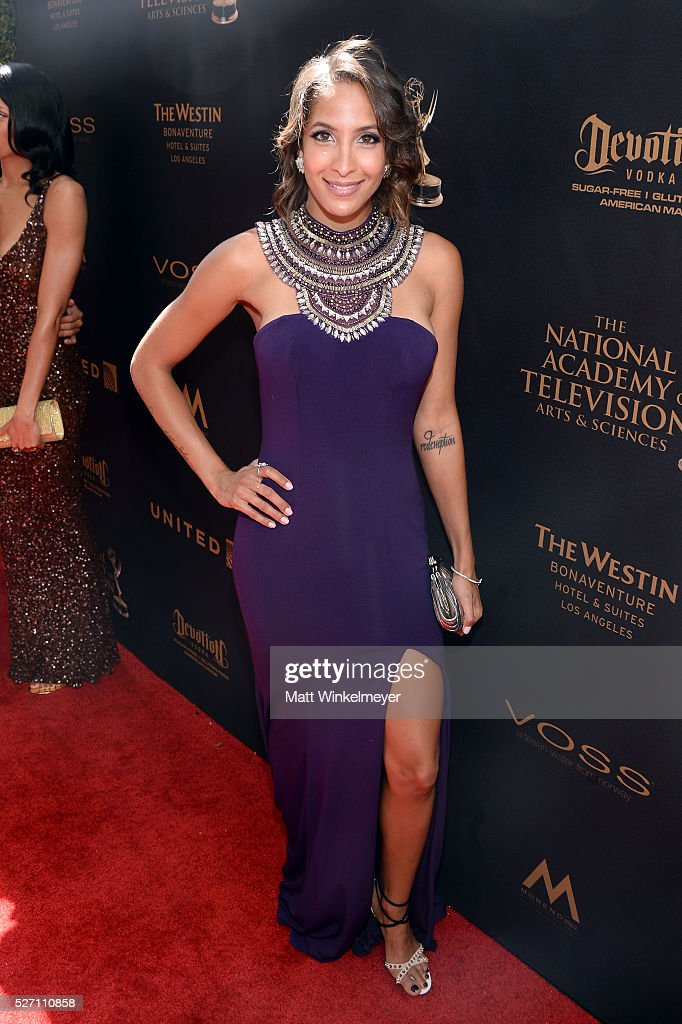 Actress Christel Khalil arrives at the 43rd Annual Daytime Emmy Awards at the Westin Bonaventure Hotel on May 1, 2016 in Los Angeles, California.