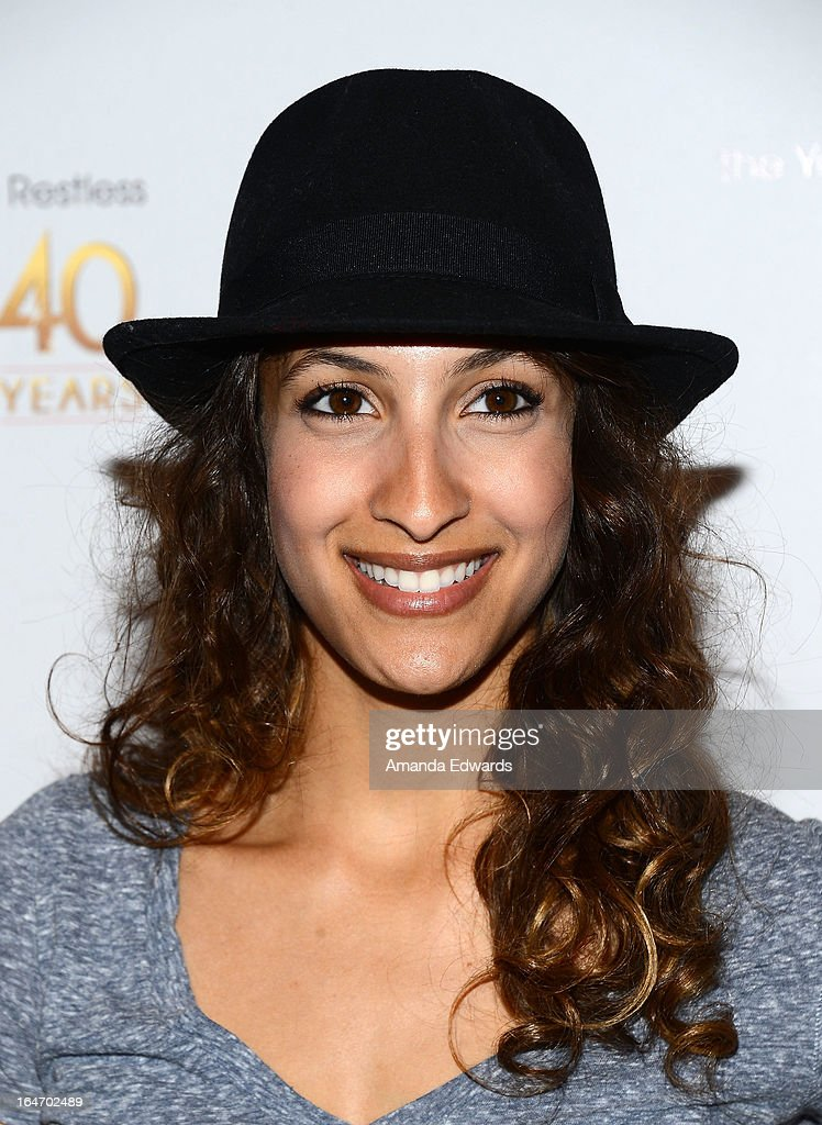 Actress <a gi-track='captionPersonalityLinkClicked' href=/galleries/search?phrase=Christel+Khalil&family=editorial&specificpeople=241522 ng-click='$event.stopPropagation()'>Christel Khalil</a> attends the 'The Young & The Restless' 40th anniversary cake-cutting ceremony at CBS Television City on March 26, 2013 in Los Angeles, California.
