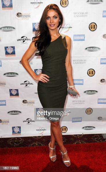 Actress Christian Pitre arrives for The Burbank Film Festival Closing Night Gala Dinner and Awards Ceremony held at Castaways on September 8 2013 in...