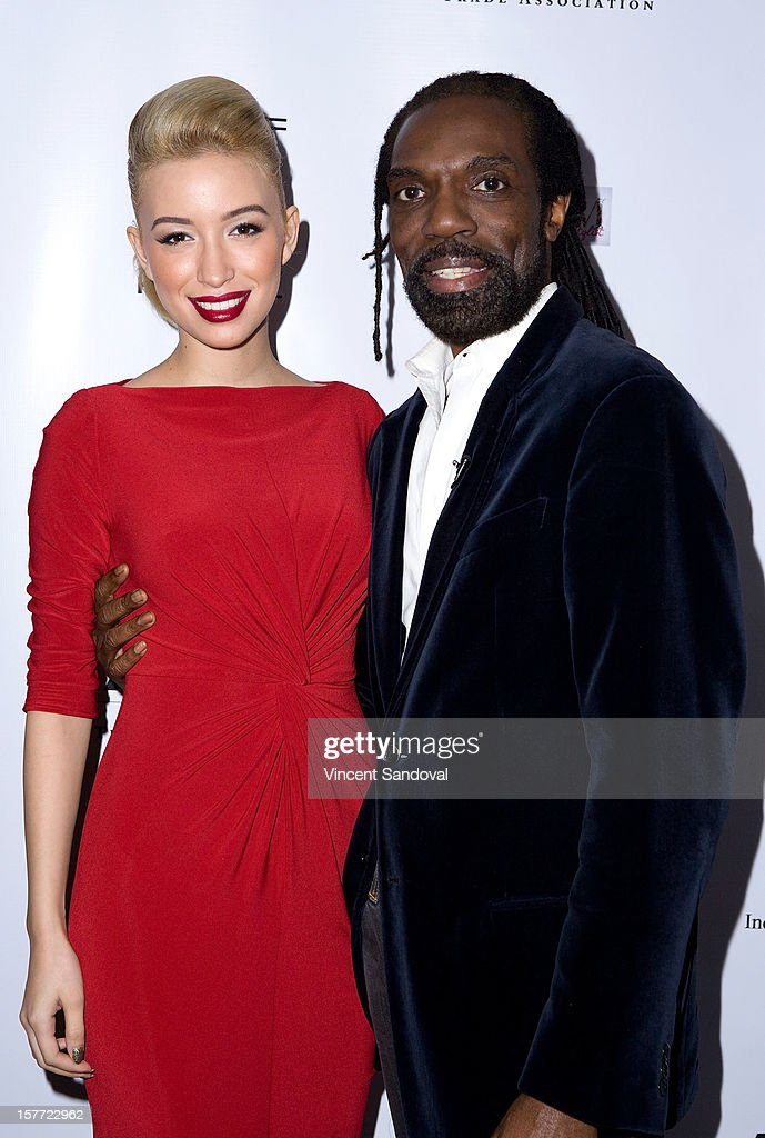 Actress <a gi-track='captionPersonalityLinkClicked' href=/galleries/search?phrase=Christian+Serratos&family=editorial&specificpeople=709188 ng-click='$event.stopPropagation()'>Christian Serratos</a> and designer Kevan Hall attend fashion designer Kevan Hall's Spring 2013 Collection on December 5, 2012 in Los Angeles, California.