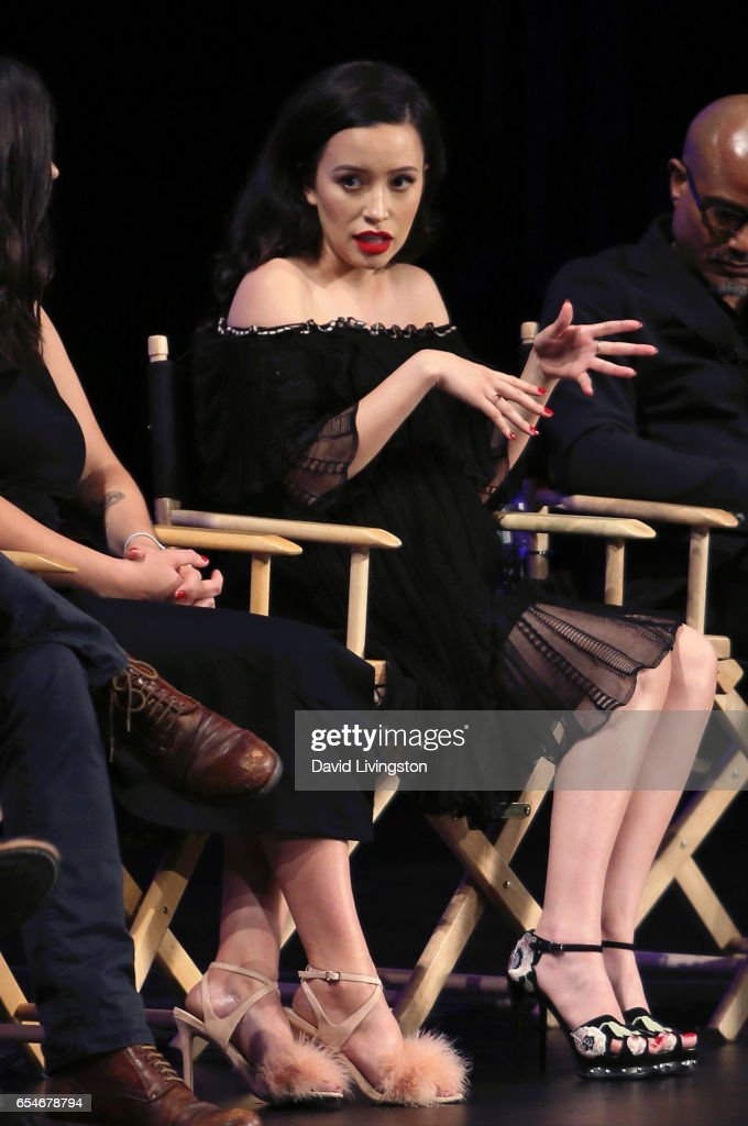 Actress Christian Serratos appears on stage at The Paley Center for Media's 34th Annual PaleyFest Los Angeles opening night presentation of 'The Walking Dead' at Dolby Theatre on March 17, 2017 in Hollywood, California.