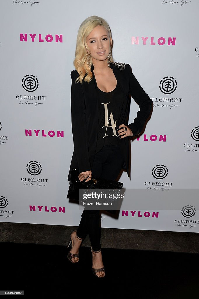 Actress Christian Serratos arrives at NYLON Magazine August Issue Launch Party hosted by Ashley Greene at Blok on July 31, 2012 in Hollywood, California.