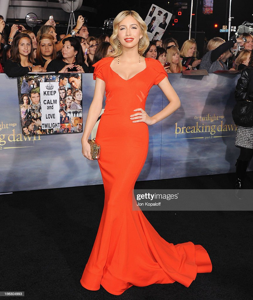 Actress Christian Serratos arrives at the Los Angeles Premiere 'The Twilight Saga: Breaking Dawn - Part 2' at Nokia Theatre L.A. Live on November 12, 2012 in Los Angeles, California.