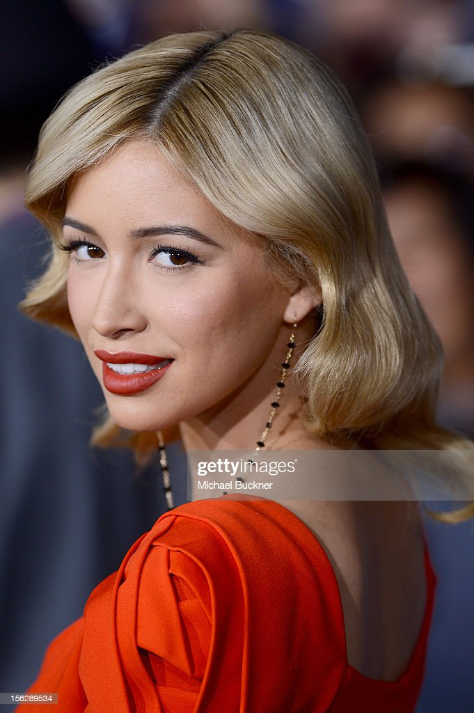 Actress Christian Serratos arrives at the premiere of Summit Entertainment's 'The Twilight Saga: Breaking Dawn - Part 2' at Nokia Theatre L.A. Live on November 12, 2012 in Los Angeles, California.