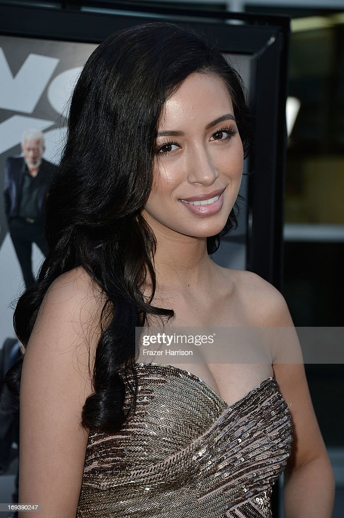 Actress Christian Serratos arrives at the Screening Of Summit Entertainment's 'Now You See Me' at ArcLight Hollywood on May 23, 2013 in Hollywood, California.