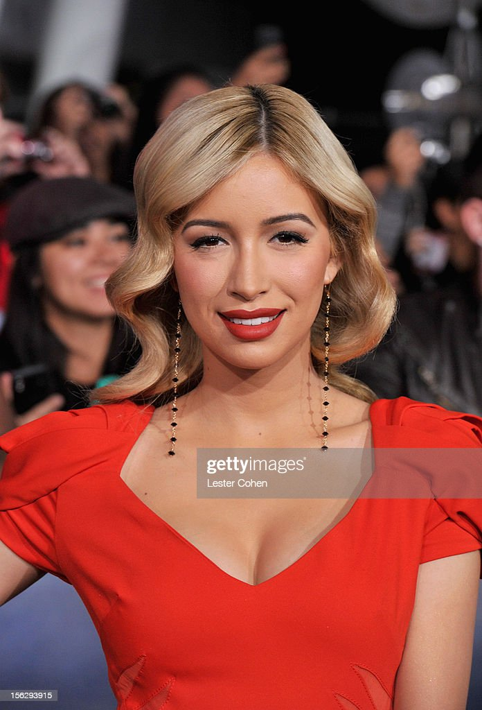 Actress Christian Serratos arrives at 'The Twilight Saga: Breaking Dawn - Part 2' Los Angeles premiere at the Nokia Theatre L.A. Live on November 12, 2012 in Los Angeles, California.