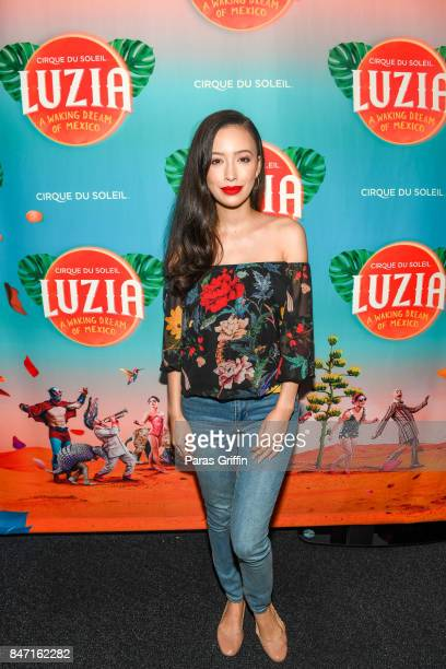 Actress Christian Serratos attends Atlanta Premiere of Cirque du Soleil's 'LUZIA A Waking Dream of Mexico' at Big Top at Atlantic Station on...