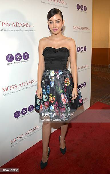 Actress Christian Serratos attends Fashion Business Inc's 'All Aboard LA's Fashion Platform' at Union Station on October 15 2013 in Los Angeles...