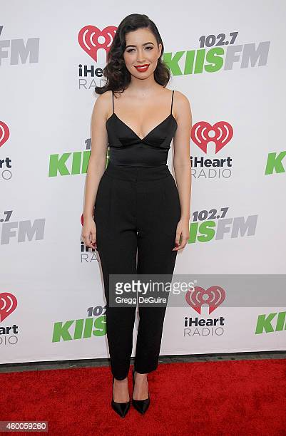 Actress Christian Serratos attends KIIS FM's Jingle Ball 2014 powered by LINE at Staples Center on December 5 2014 in Los Angeles California