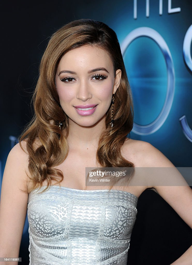 Actress Christian Serratos attends the premiere of Open Road Films 'The Host' at ArcLight Cinemas Cinerama Dome on March 19, 2013 in Hollywood, California.