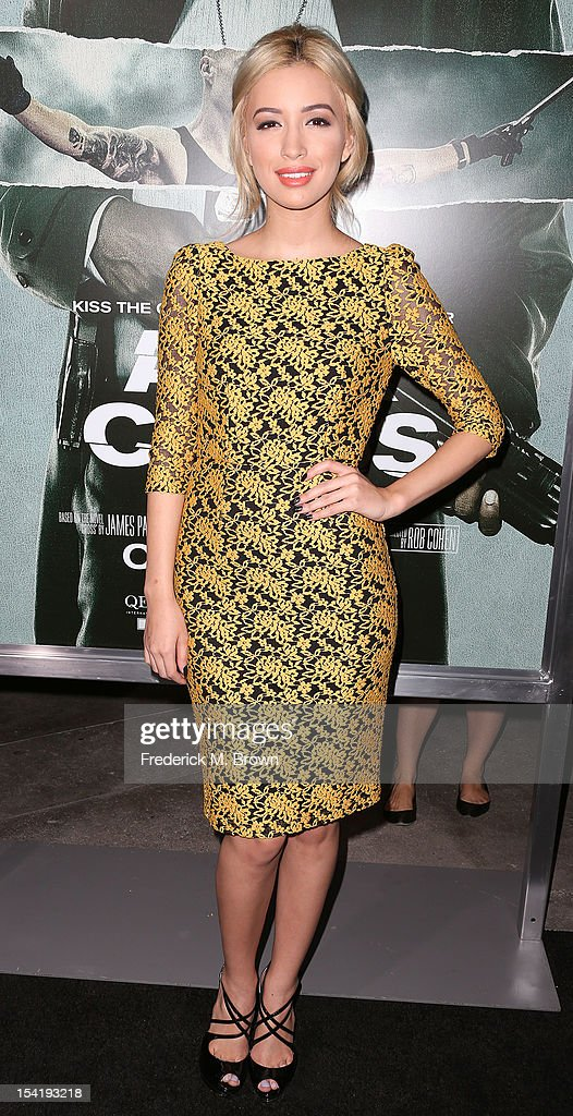 Actress Christian Serratos attends the Premiere Of Summit Entertainment's 'Alex Cross' at the ArcLight Cinemas Cinerama Dome on October 15, 2012 in Hollywood, California.