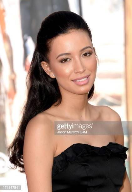 Actress Christian Serratos attends the premiere of Walt Disney Pictures' 'The Lone Ranger' at Disney California Adventure Park on June 22 2013 in...