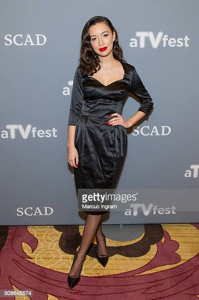 Actress Christian Serratos attends 'The Walking Dead' event during SCAD aTVfest 2016 Day 2 at the Four Seasons Atlanta Hotel on February 5 2016 in...