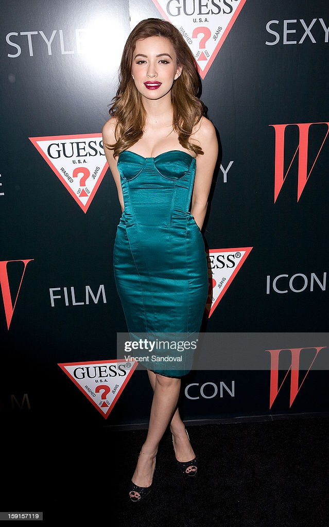 Actress Christian Serratos attends W Magazine and Guess celebrating 30 years of fashion and film and the next generation of style icons at Laurel Hardware on January 8, 2013 in West Hollywood, California.