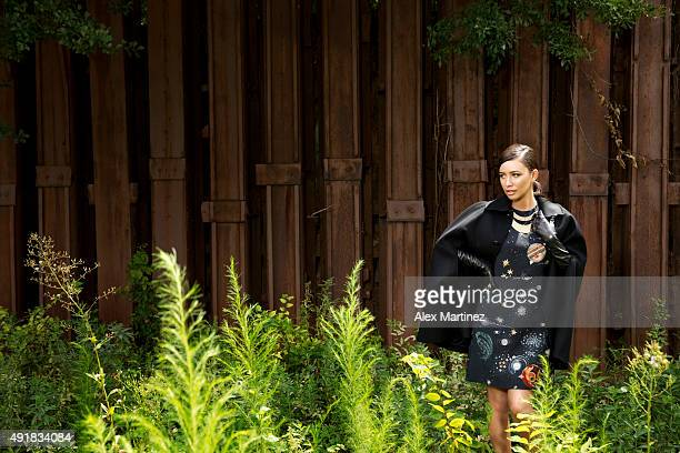 Actress Christian Serratos is photographed for Atlanta Magazine on July 25 2015 in Atlanta Georgia PUBLISHED IMAGE ON EMBARGO UNTIL DECEMBER 1 2015