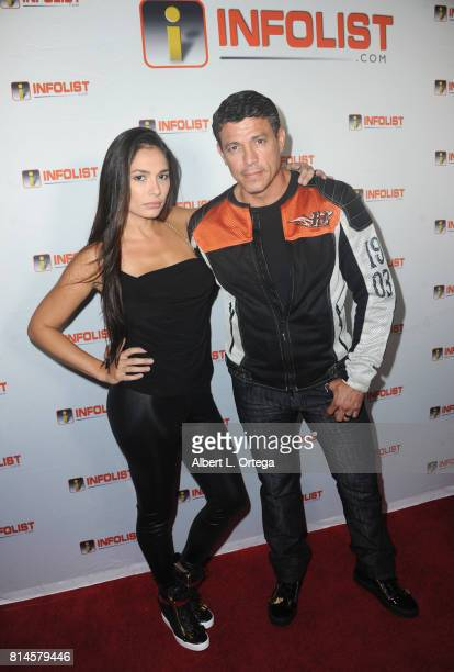 Actress Christiana Leucas and actor Al Coronel attend Jeff Gund's INFOLISTcom's Annual PreComicCon Party held at OHM Nightclub on July 13 2017 in...