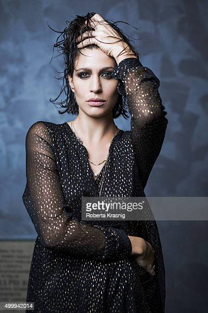 Actress Christiane Filangeri is photographed for Self Assignment on November 24 2015 in Rome Italy