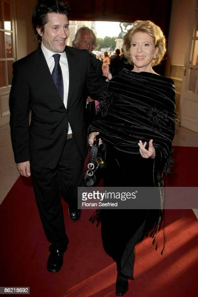 Actress Christiane Hoerbiger and son Sascha Biegler attend the '20th Romy Award' at the Hofburg on April 25 2009 in Vienna Austria