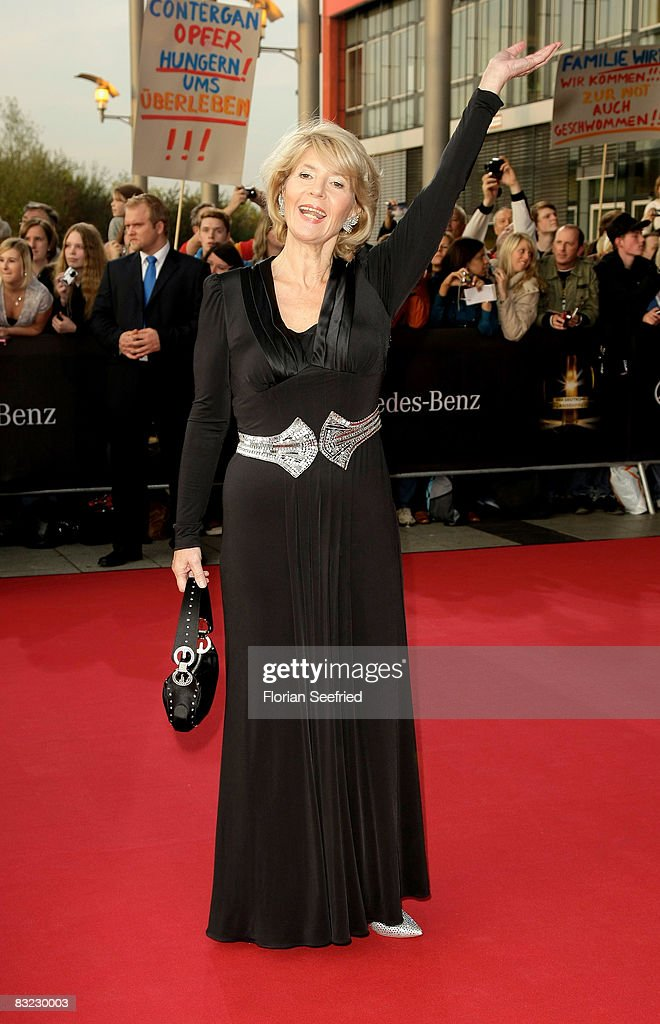 Actress Christiane Hoerbiger arrives for the German TV Award 2008 at the Coloneum on October 11, 2008 in Cologne, Germany.