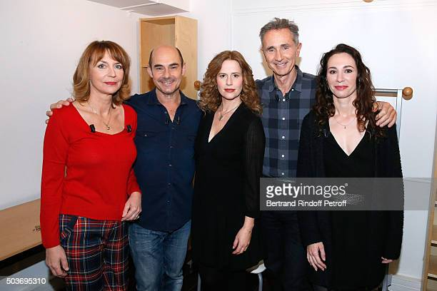 Actress Christiane Millet Actor Bernard Campan Actress Florence Darel Main guest of the Show Actor Thierry Lhermitte and Autor of the Piece Isabelle...