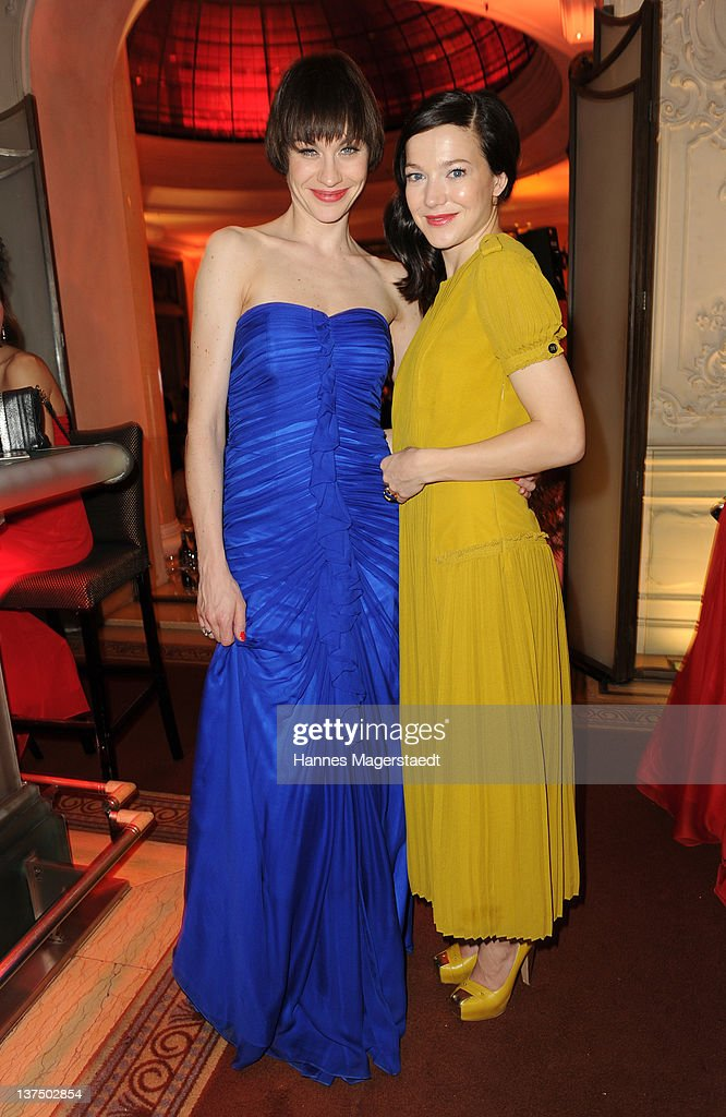 Actress Christiane Paul and Hannah Herzsprung attend the German Filmball at the Hotel Bayerischer Hof on January 21, 2012 in Munich, Germany.