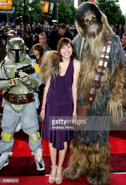 Actress Christiane Paul arrives for the German premiere of 'Star Wars Episode III Revenge of the Sith' on May 17 2005 in Berlin Germany The third...