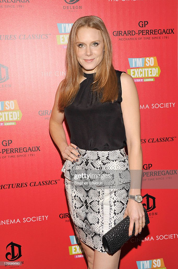 Actress Christiane Seidel attends Girard-Perregaux And The Cinema Society With DeLeon Host a Screening Of Sony Pictures Classics' 'I'm So Excited' at Sunshine Landmark on June 6, 2013 in New York City.