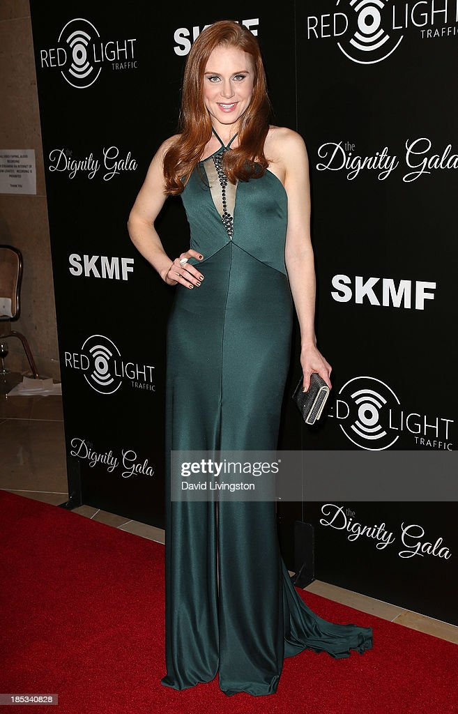 Actress Christiane Seidel attends the launch of the Redlight Traffic app at the Dignity Gala at The Beverly Hilton Hotel on October 18, 2013 in Beverly Hills, California.