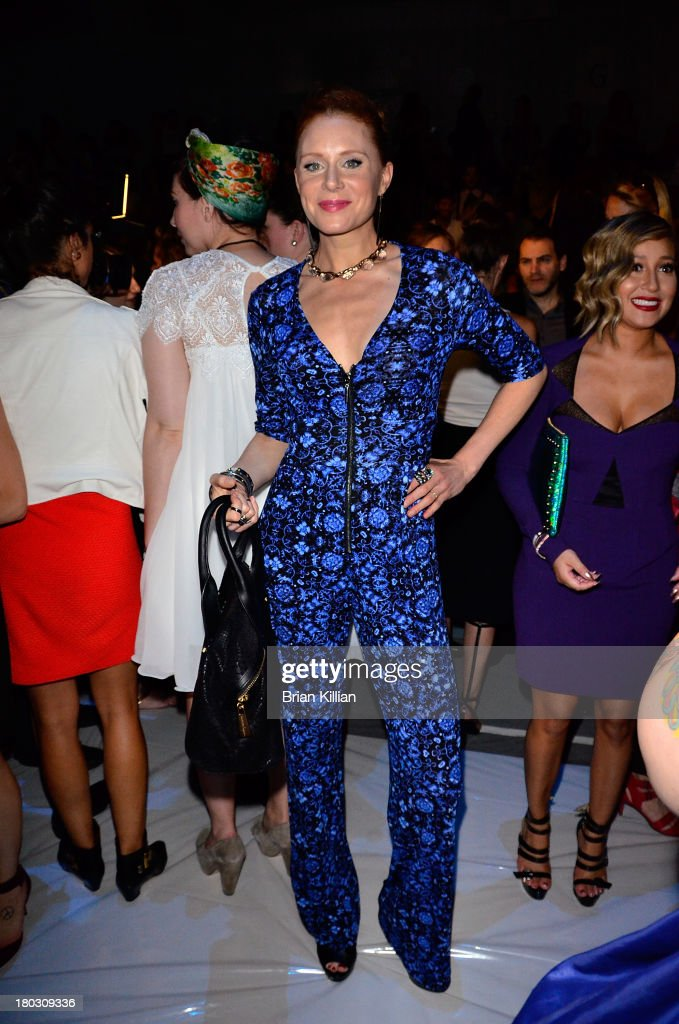 Actress Christiane Seidel attends the Nanette Lepore show during Spring 2014 Mercedes-Benz Fashion Week at The Stage at Lincoln Center on September 11, 2013 in New York City.