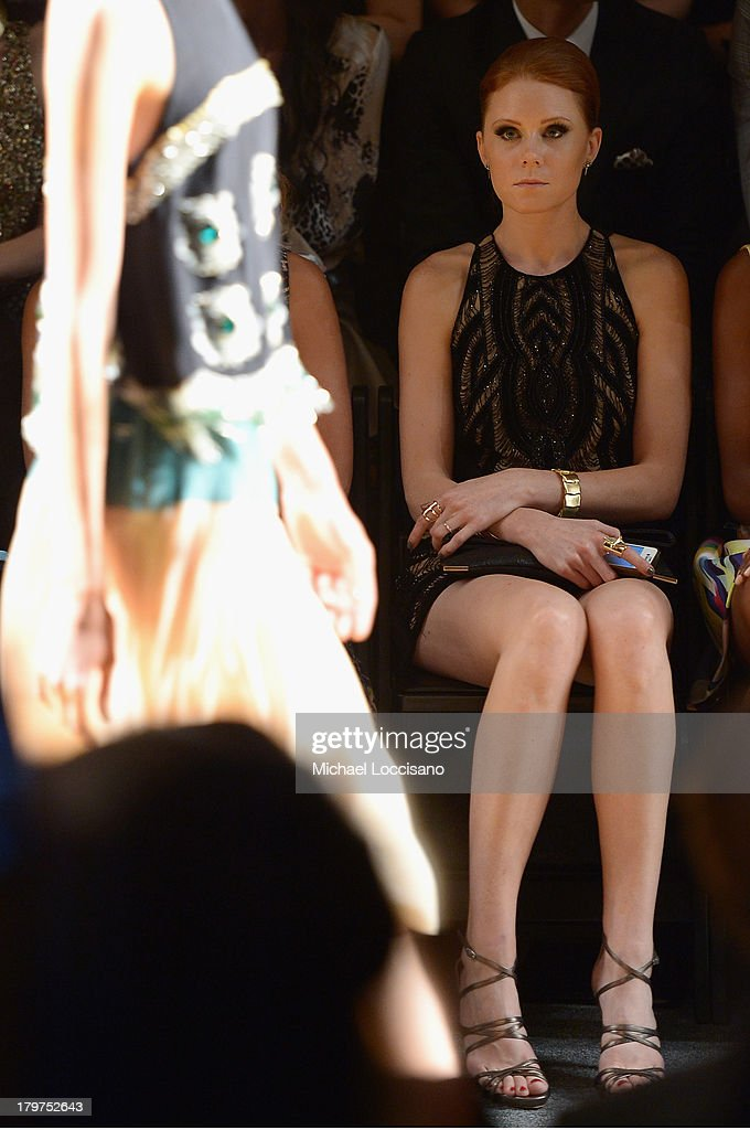 Actress Christiane Seidel attends the Nicole Miller Spring 2014 fashion show during Mercedes-Benz Fashion Week at The Studio at Lincoln Center on September 6, 2013 in New York City.